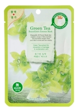 BeauuGreen Тканевая 3D маска для лица с экстрактом зеленого чая 3D Green Tea Essence Mask 23г