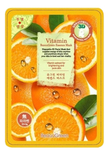 BeauuGreen Тканевая 3D маска для лица Витаминная 3D Vitamin Essence Mask 23г