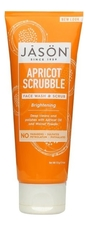 Jason Скраб для лица с абрикосовым маслом Brightening Apricot Scrubble Pure Natural Facial Wash & Scrub 113мл
