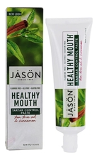 Jason Зубная паста против налета и зубного камня с маслом чайного дерева Healthy Mouth All Natural Tartar Control Toothpaste 119г