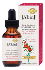 A'kin Масло для лица Шиповник Pure Radiance Rosehip Oil 23мл