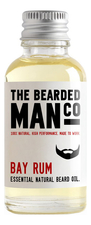 The Bearded Man Company Масло для бороды с запахом карибского рома Essential Natural Beard Oil Bay Rum