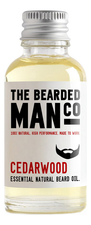 The Bearded Man Company Масло для бороды с запахом кедра Essential Natural Beard Oil Cedarwood
