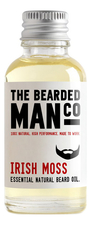The Bearded Man Company Масло для бороды с запахом ирландского мха Essential Natural Beard Oil Irish Moss