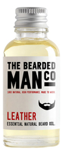 The Bearded Man Company Масло для бороды с запахом дубленой кожи Essential Natural Beard Oil Leather