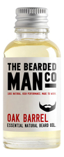 The Bearded Man Company Масло для бороды с запахом дубовой бочки Essential Natural Beard Oil Oak Barrel