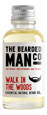 The Bearded Man Company Масло для бороды с запахом прогулки в лесу Essential Natural Beard Oil Walk in the Woods