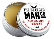 The Bearded Man Company Воск для усов с запахом лаванды Styling Wax Lavender 15мл