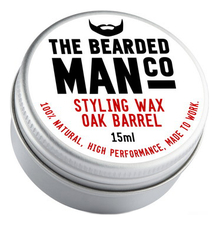 The Bearded Man Company Воск для усов с запахом дубовой бочки Styling Wax Oak Barrel 15мл