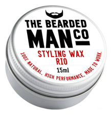 The Bearded Man Company Воск для усов с запахом Рио Styling Wax Rio 15мл