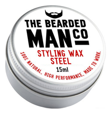The Bearded Man Company Воск для усов с запахом стали Styling Wax Steel 15мл