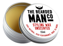 The Bearded Man Company Воск для усов без запаха Styling Wax Unscented 15мл