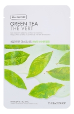 The Face Shop Тканевая маска для лица с экстрактом зеленого чая Real Nature Mask Green Tea 20г