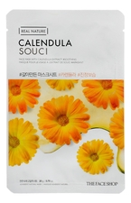 The Face Shop Тканевая маска для лица с экстрактом календулы Real Nature Mask Calendula 20г