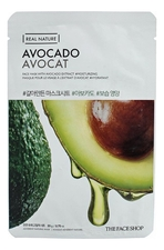 The Face Shop Тканевая маска для лица с экстрактом авокадо Real Nature Mask Avocado 20г