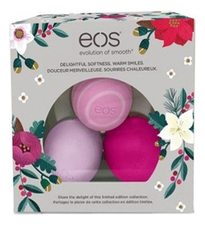 Eos Набор Holiday 2016 Limited Edition Lip Balm Pack (бальзам д/губ Медовое яблоко 7мл + бальзам д/губ Маракуйя 7мл + бальзам д/губ Дикие ягоды 7мл)