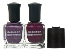 Deborah Lippmann Набор Steal My Kisses (лак д/ногтей Love Is A Battlefield 15мл + лак д/ногтей Berry Metal 15мл + магнит)