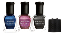 Deborah Lippmann Набор Magnet Appeal (лак д/ногтей Magic Man 15мл + лак д/ногтей Punk Princess 15мл + лак д/ногтей Hard Knock Life 15мл + магнит)