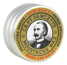 Captain Fawcett Воск для усов Ricki Hall's Booze & Baccy Moustache Wax 15мл