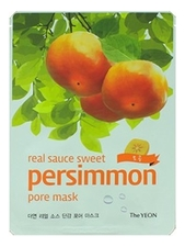 The YEON Маска для лица с экстрактом хурмы Real Sauce Sweet Persimmon Pore Mask Care & Elasticity 23мл