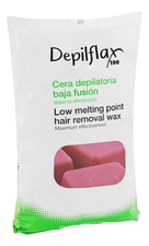 Depilflax Горячий воск для любого типа кожи средней плотности Low Melting Point Hair Removal Wax 1000г (вино)