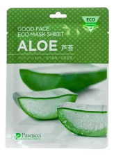 Amicell Тканевая маска для лица с экстрактом алоэ Pascucci Good Face Eco Mask Sheet Aloe 23мл