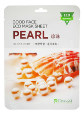 Amicell Тканевая маска для лица с экстрактом жемчуга Pascucci Good Face Eco Mask Sheet Pearl 23мл
