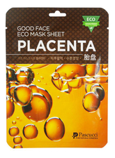Amicell Тканевая маска для лица с экстрактом фитоплаценты Pascucci Good Face Eco Mask Sheet Placenta 23мл