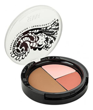SENNA Набор для придания румянца Slipcover Cream To Powder Foudation  Blush Contour 8,5г (румяна + пудра)