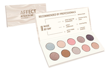 AFFECT Палетка теней Nude By Day Pressed Eyeshadows Palette 25г