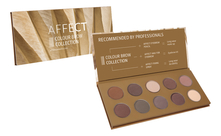 AFFECT Палетка теней для бровей Colour Brow Collection Pressed Eyebrow Shadows Palette 25г