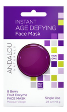 Andalou Naturals Маска для лица омолаживающая Age Defying Instant Face Mask 8 Berry Fruit Enzyme