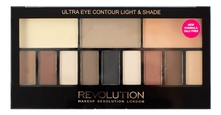 Makeup Revolution Палетка теней для век Ultra Eye Contour Light and Shade 14г