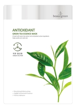 BeauuGreen Антиоксидантная тканевая маска для лица Antioxidant Green Tea Essence Mask 23г