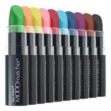 Moodmatcher Набор устойчивых помад (Blak + Brown + Dark Blue + Green + Light Blue + Orange + Pink + Purple + Red + Yellow) 10*3,5г