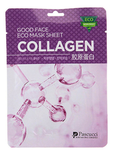 Amicell Тканевая маска для лица с коллагеном Pascucci Good Face Eco Mask Sheet Collagen 23мл
