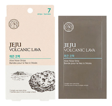 The Face Shop Патч для носа Jeju Volcanic Lava Aloe Nose Strip 7шт