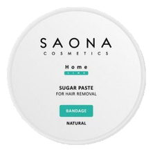 Saona Cosmetics Сахарная паста для шугаринга Home Line Sugar Paste For Hair Removal Bandage Natural 300г