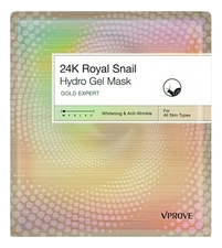 VPROVE Гидрогелевая маска для лица с муцином улитки Gold Expert 24k Royal Snail Mask 30мл