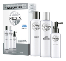 NIOXIN Набор для волос Hair System 1 Normal To Thin-Looking (шампунь Cleanser Shampoo 150мл + кондиционер Scalp Revitaliser Conditioner 150мл + маска Scalp Treatment 50мл)