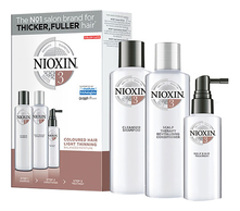 NIOXIN Набор для волос Hair System 3 Noticeably Thinning (шампунь Cleanser Shampoo 300мл + кондиционер Scalp Revitaliser Conditioner 300мл + маска Scalp Treatment 100мл)