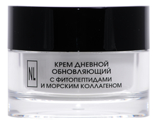 New Line Крем дневной для лица с фитопептидами и морскими коллагеном Cream Day Renovating With Phytopeptides And Sea Collagen 50мл