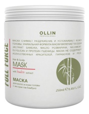 OLLIN Professional Маска для волос и кожи головы с экстрактом бамбука Full Force Hair & Scalp Mask With Bamboo Extract 250мл