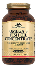 SOLGAR Биодобавка Концентрат рыбьего жира Omega 3 Fish Oil Concentrate