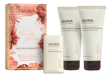 AHAVA Набор Deadsea Mud (крем д/ног Leave-On Deadsea Mud Dermud Intensive Foot Cream + крем д/рук Leave-On Deadsea Mud Dermud Intensive Hand Cream + мыло на основе грязи Мертвого моря Deadsea Mud Purifying Mud Soap)