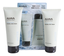 AHAVA Набор Deadsea Water (крем д/рук Deadsea Water Mineral Hand Cream + крем д/ног Deadsea Water Mineral Foot Cream)