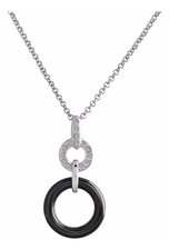 Mademoiselle Jolie Кулон Ceramique Rhodium Black