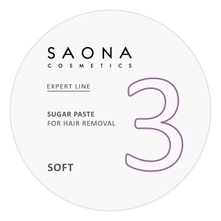 Saona Cosmetics Сахарная паста для шугаринга Expert Line 3 Sugar Paste For Hair Removal Soft