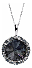 Mademoiselle Jolie Кулон Enigme Soir Rhodium Black Diamond