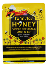 Farm Stay Тканевая маска для лица с медом и прополисом Visible Difference Mask Sheet Honey 23мл